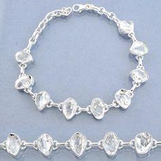 38.71cts natural white herkimer diamond 925 silver tennis bracelet t7754