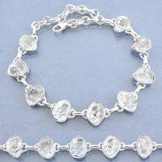 37.65cts natural white herkimer diamond 925 silver tennis bracelet t7756