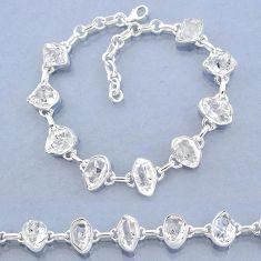 38.56cts natural white herkimer diamond 925 silver tennis bracelet t7758