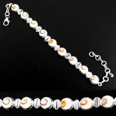 25.53cts natural white shiva eye 925 sterling silver bracelet jewelry r63593