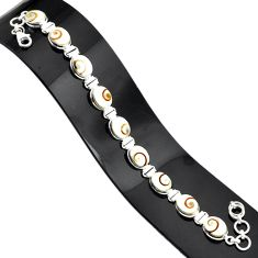 34.91cts natural white shiva eye 925 sterling silver tennis bracelet r84343