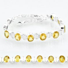 20.43cts natural yellow citrine 925 sterling silver tennis bracelet t4587