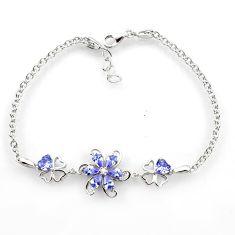5.42cts purple amethyst quartz topaz 925 sterling silver tennis bracelet c26690