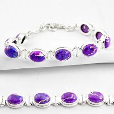 36.67cts purple copper turquoise 925 sterling silver tennis bracelet r38850