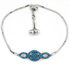925 sterling silver natural turquoise white topaz bracelet adjustable c17008