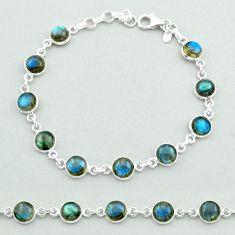 20.88cts tennis natural blue labradorite 925 sterling silver bracelet t40398
