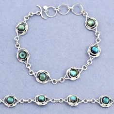 14.80cts tennis natural blue labradorite 925 sterling silver bracelet t8398
