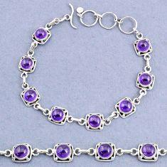 16.77cts tennis natural purple amethyst 925 sterling silver bracelet t8402