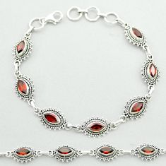 10.83cts tennis natural red garnet 925 sterling silver bracelet jewelry t52157