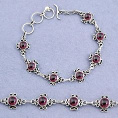 16.22cts tennis natural red garnet 925 sterling silver bracelet jewelry t8361