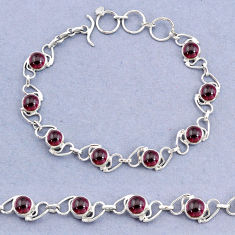 18.03cts tennis natural red garnet 925 sterling silver bracelet jewelry t8427