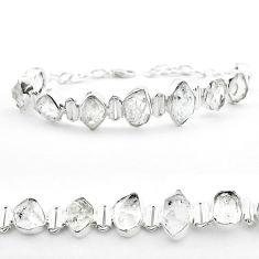 45.52cts tennis natural white herkimer diamond 925 silver bracelet t50462
