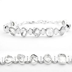 41.87cts tennis natural white herkimer diamond 925 silver bracelet t50467
