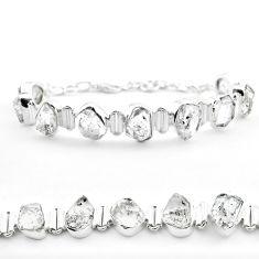 44.57cts tennis natural white herkimer diamond 925 silver bracelet t50472