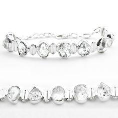 44.07cts tennis natural white herkimer diamond 925 silver bracelet t50479