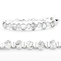 42.86cts tennis natural white herkimer diamond 925 silver bracelet t50480