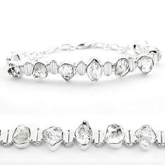 42.37cts tennis natural white herkimer diamond 925 silver fancy bracelet t50471