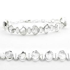43.32cts tennis natural white herkimer diamond fancy 925 silver bracelet t50464