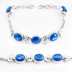 23.54cts natural blue kyanite 925 sterling silver tennis bracelet jewelry p54701