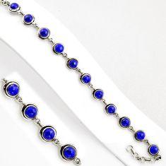 16.42cts natural blue lapis lazuli 925 sterling silver tennis bracelet p89123