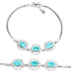 11.30cts natural blue topaz topaz 925 sterling silver tennis bracelet c2265