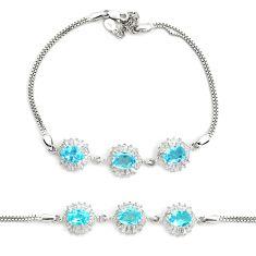 10.43cts natural blue topaz topaz 925 sterling silver tennis bracelet c2324