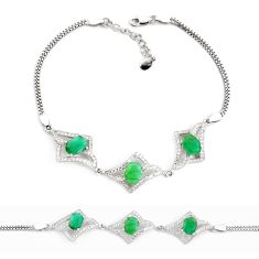 10.00cts natural green emerald topaz 925 sterling silver tennis bracelet c2313