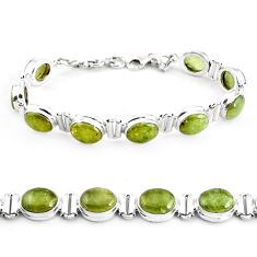36.86cts natural green garnet 925 sterling silver tennis bracelet p40005