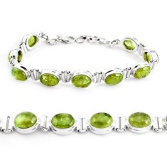 37.91cts natural green garnet 925 sterling silver tennis bracelet p40006