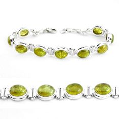 38.66cts natural green garnet 925 sterling silver tennis bracelet p40009