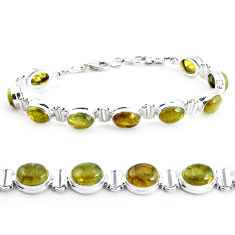 38.32cts natural green garnet 925 sterling silver tennis bracelet p40011