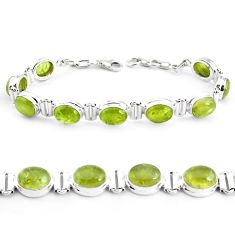 37.85cts natural green garnet 925 sterling silver tennis bracelet p40012