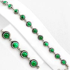 16.67cts natural green malachite (pilot's stone) silver tennis bracelet p89139
