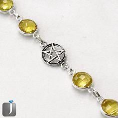 NATURAL LEMON TOPAZ 925 STERLING SILVER STAR OF DAVID BRACELET JEWELRY G16845