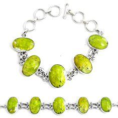 48.37cts natural lizardite (meditation stone) 925 silver tennis bracelet p46027