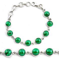 19.84cts natural malachite (pilot's stone) 925 silver tennis bracelet p87836