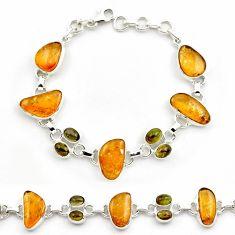 41.15cts natural multi color tourmaline 925 sterling silver bracelet p76732