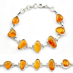 36.55cts natural multi color tourmaline 925 sterling silver bracelet p76738