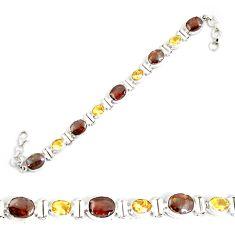 29.22cts natural multicolor ammolite (canadian) silver tennis bracelet p64388