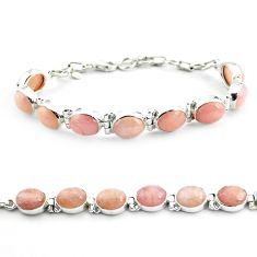 36.72cts natural orange morganite 925 sterling silver tennis bracelet p70717