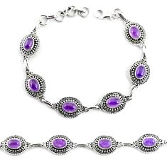 9.43cts natural purple amethyst 925 sterling silver tennis bracelet p65163