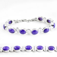 33.05cts natural purple charoite (siberian) 925 sterling silver bracelet p64452