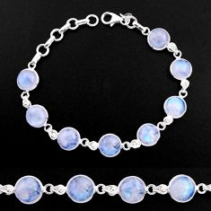 30.49cts natural rainbow moonstone 925 sterling silver tennis bracelet p92902