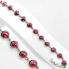 15.62cts natural red garnet 925 sterling silver tennis bracelet jewelry p89102