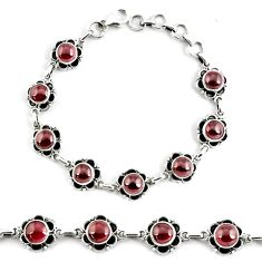 19.34cts natural red garnet 925 sterling silver tennis bracelet p68083