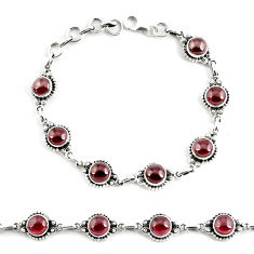 18.39cts natural red garnet 925 sterling silver tennis bracelet p68092