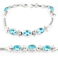 16.84cts natural topaz 925 sterling silver tennis bracelet jewelry p54784