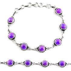 14.24cts purple copper turquoise 925 sterling silver tennis bracelet p65131