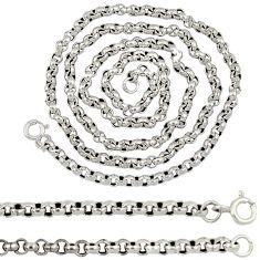 925 sterling silver fine box design necklace chain jewelry a8303