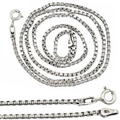 925 sterling silver link plain italy box necklace chain jewelry a8286
